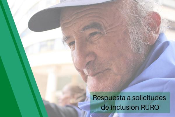 Respuesta de Solicitudes de Inclusión al RURO