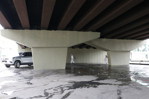 Ciudadanos celebraron intervención del Distrito a puente de la carrera 30 con calle 68