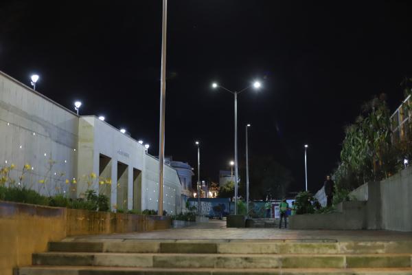 La tradicional plazoleta de La Concordia estrena moderna iluminación