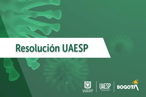 Resolución UAESP 187 de 2020