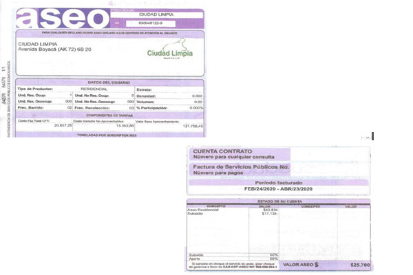 Se comenzó a aplicar subsidio para la factura de aseo en Bogotá