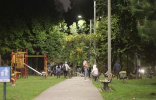 La iluminación led llegó al parque La Calleja en el norte de Bogotá