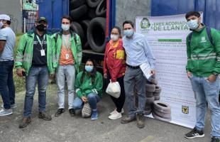 UAESP participo en Llantaton realizada en cinco localidades