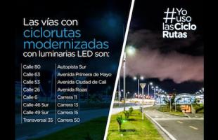 El distrito continúa trabajando por mejorar las ciclorrutas de Bogotá